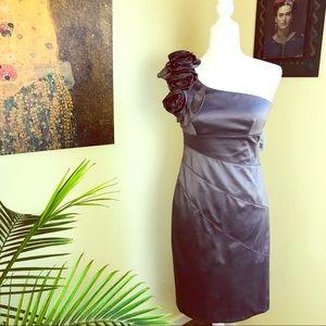 NEW Jessica Simpson One Shoulder Rosette Dress